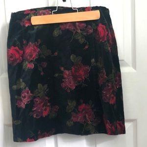 The Limited Velvet floral skirt , sz 6